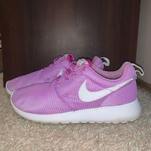 Purple nike shoes